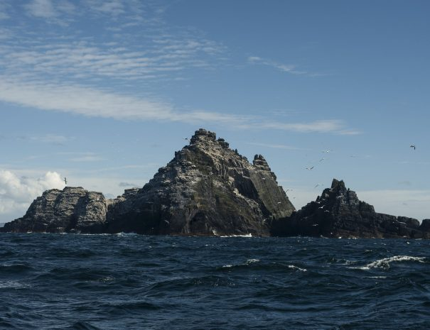 Approaching The Skelligs by boat