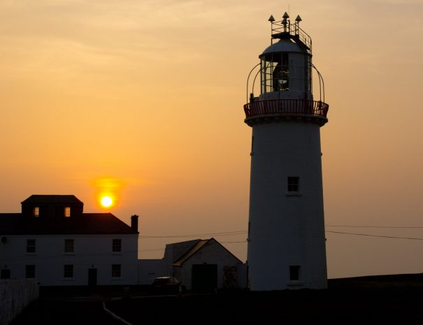 Loop Head Lighthouse at sunset